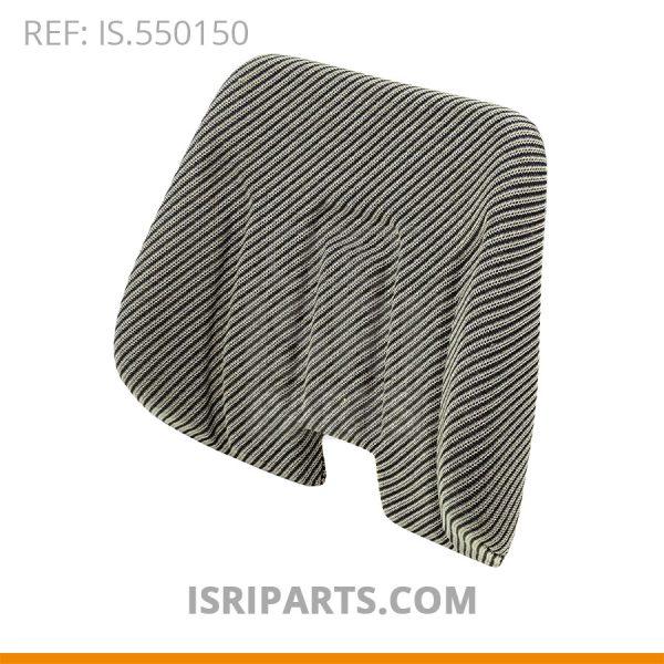 Rugkussen 2300 LR grijze stof gestreept- ISRI 1016-05