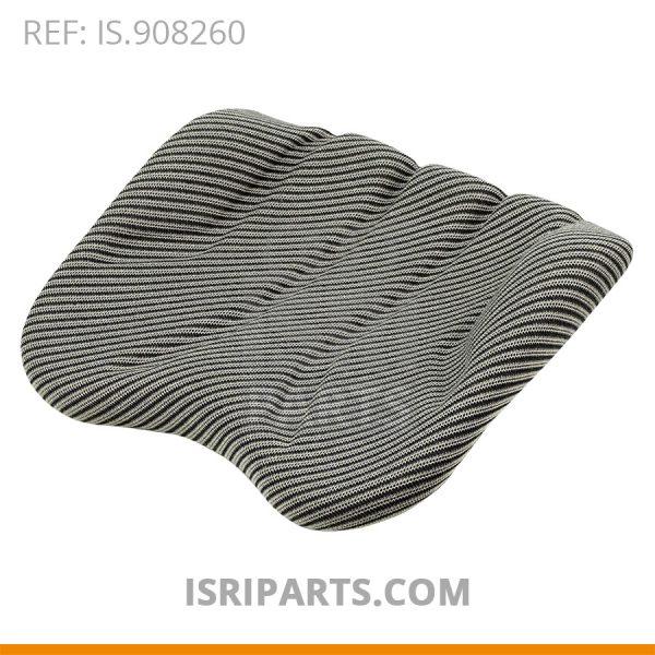 Zitkussen 2300 LR grijze stof gestreept - ISRI 1017-05
