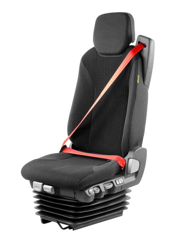 ISRI 6860/870 stoel met rode driepuntsgordel